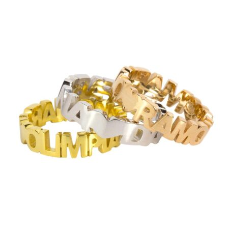 Anello 3D in Argento 925 personalizzabile