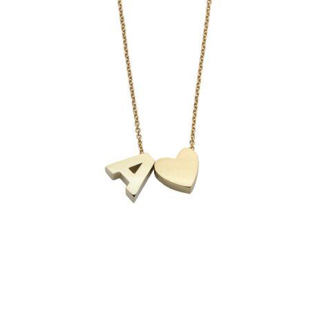 Collana in Oro 18kt componibile con Cuore o Stella